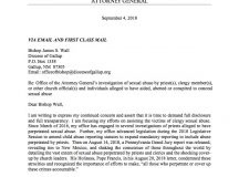 Letter from Attorney General to the Diocese